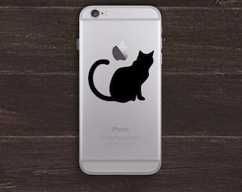 Cat Vinyl iPhone Decal BAS-0241