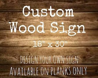 Custom Wood Sign | Wood Sign | Custom Decor | Gift for Her | Wedding Gift | Nursery Decor | Rustic Sign | Made In Canada