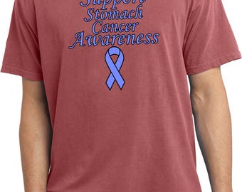 Men's Support Stomach Cancer Awareness Pigment Dyed Tee T-Shirt SSCA-PC099