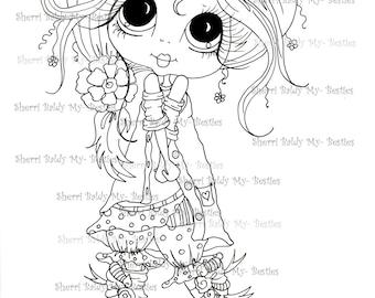 INSTANT DOWNLOAD Digital Digi Stamps Big Eye Big Head Dolls Digi Img303 Besties By Sherri Baldy