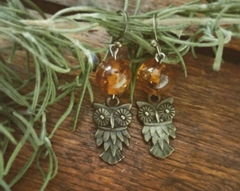 Amber Athena Earrings