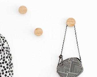 Wooden wall hooks - coat hooks - oak hooks - wood wall hooks - modern wall hooks - oak wall hook - entryway hooks - minimalist coat hooks