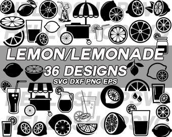 lemon svg, lemonade svg, lemonade drink, fruits, citrus fruit svg, beverage svg, clipart, decal, stencil, silhouette, cut file, iron on