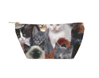Cats for Days Pouch - Accessory Bag, Cosmetic Case, Makeup Bag, Toiletry Bag, Pencil Pouch - Printed in USA