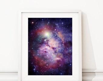 Galaxy Art Print - Bedroom Art - College Art - Space Art - Solar System Art - Office Art Print - Science - Solar System Poster (S-384)
