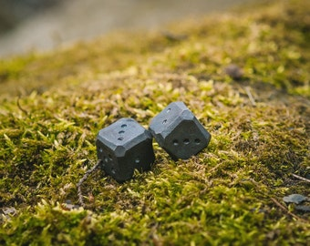 Handmade forged metal dice