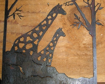More Giraffes-Metal Wall Art