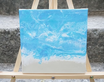 """Beach painting, Ocean Art, Abstract ocean painting, abstract acrylic painting - """"Little Sea"""""""