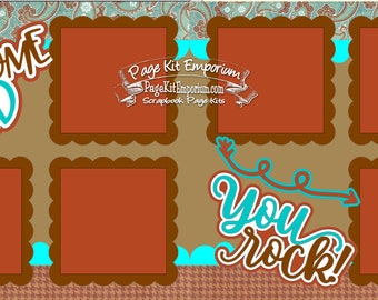 Scrapbook Page Kit Father's Day Awesome Dad 2 page Scrapbook Layout Kit 150