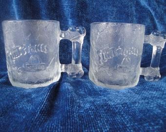 McDonald's 1993 Flintstone Pre-Dawn Glass Mugs Set of 2