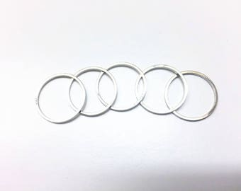 5 piece silver midi rings, 5 pcs stackable rings, 5 pcs knuckle rings, 5 pcs cute midi rings, 5 pcs silver plated rings