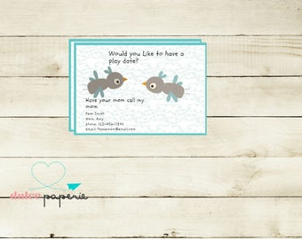 Childrens Playdate Calling Card- Stationery Mommy Calling Cards
