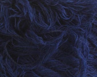 Fleecy yarn acrylic yarn on a cone bobbin yarn knitting yarn crochet yarn hand knitting yarn grass yarn blue yarn downy yarn furry fiber
