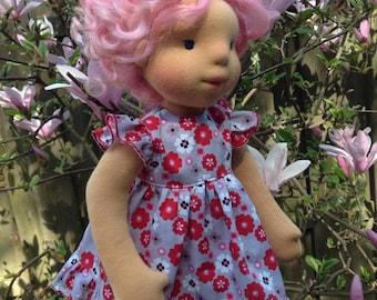 Waldorf Doll - Azalea - OOAK fiber art doll