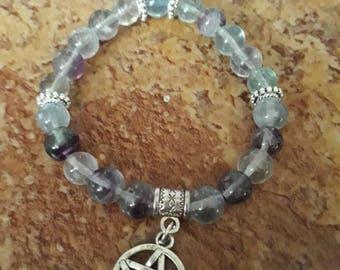 Bracelet stones natural Fluorite