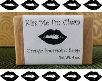 Orange Spearmint Handmade Soap