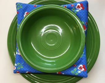 Denim Plus Print Bowl Cozy Set of 3