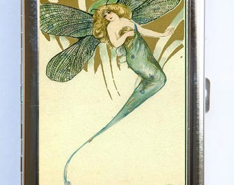 Fairy Dragon Fly Cigarette Case id case Wallet Business Card Holder
