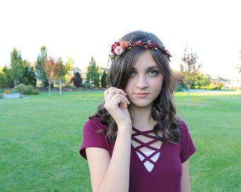 Flower Crown for Girls and Women - Shades of Autumn Flower Crown
