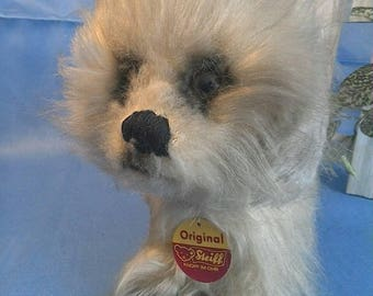 Vintage Steiff Dog Theophil, rare, 15 cm tall, all ID, good condition