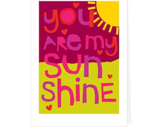You are my sunshine greeting card collection