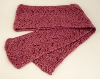 Cable and Chevron Scarf Knitting Pattern - PDF