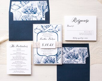 Burlap Wedding Invitations Rustic Boxed Wedding Invitations
