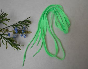 Flat laces with 8mm - 1 m length 20 - green light