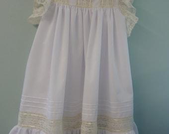 Ruffle sleeve heirloom dress