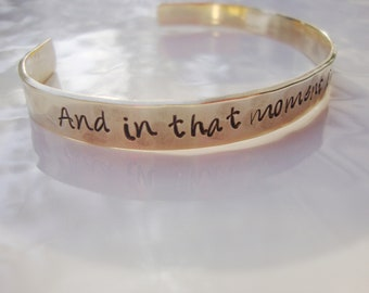 The Perks of being a wall flower Inspired hand stamped brass cuff bracelet | uplifting | encourage