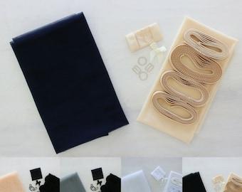 Tulle Underwire Bra Kit | Black, Midnight Blue, Grey, Blush, Warm White or White | Includes FREE Underwire!