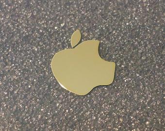 Gold Apple Label / Aufkleber / Sticker / Badge / Logo 13mm x 15mm [007g]