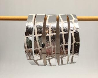 Silver leather wrap cuff wide leather cuff leather bracelet metalluc silver leather bracelet leather cuff