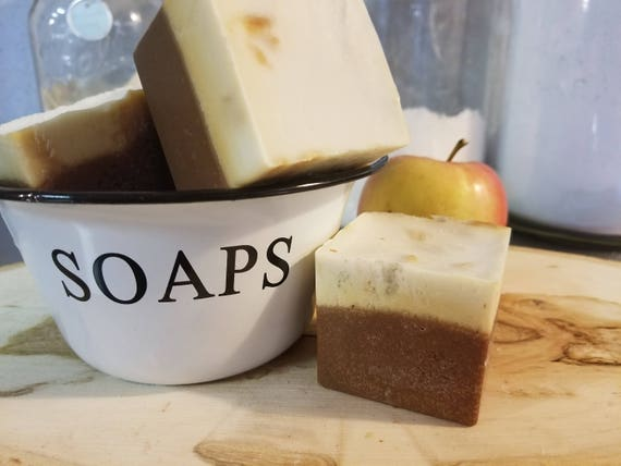 Pumpkin Apple Butter Soap Organic oils of Coconut Olive & more 5.5 ozs