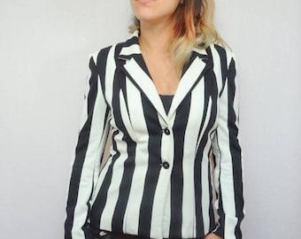 Jacket woman beetlejuice Pinstripe suit