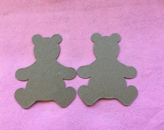 Teddy Bear Blanks-DIY Chipboard-Alterable Large Chipboard Teddy Bear-Decor-Unfinished-Party Decor-Kids Birthday Crafts-Planner Accessories