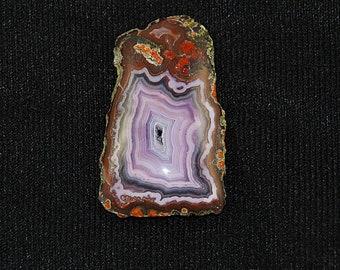 Purple Passion with Orange Dendrites Freeform Cabochon Artisan Designer Cabochon