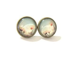 Daisy Earrings, Daisy Earings, Floral Earrings, Daisy Jewelry, Daisy Stud Earring, Clip on Earrings, Clip on Earring, Pink Flower Earrings