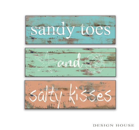 Beach signs beach plaques beach decor cottage signs cottage for Beach house decor items