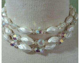 Vintage 50's Multi Strand Necklace