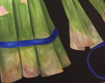 Asparagus floorcloth