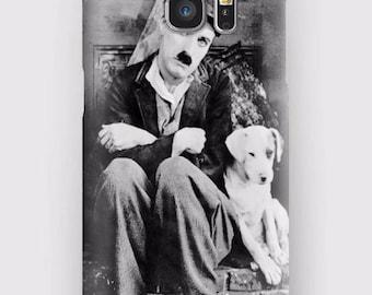 Case for Samsung S5, S6, S6 + S7, S7 +, S8, S8 +, A3, A5, J3, GP Note 4,5, 8, Charlie Chaplin