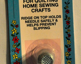 LAST CHANCE SALE - Safety Thimble for Quilting and Crafts - Petite Size