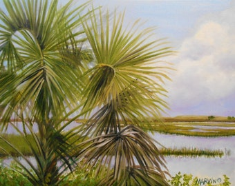 Original Oil Painting Foley Beach SC 16 X20 inches stretched canvasTop selling artist