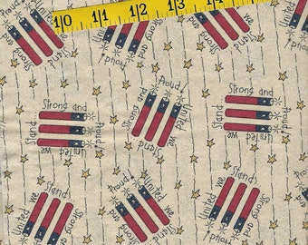 Fat quarter, cotton fabric, fire works, United We Stand print, perfect for your quilt, wallhanging, clothing, 4th of July