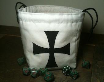 Knights Templar Dice Bag