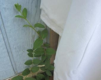 Fine Cotton Muslin Fabric, Extra Wide, White