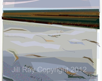 Winter Morning Cleethorpes 3 - limited edition mounted giclee print
