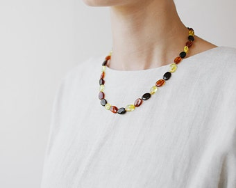 Multicolor necklace / Amber necklace