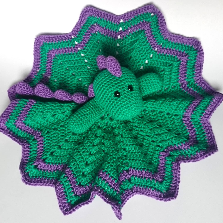 Crochet Dinosaur Comforter